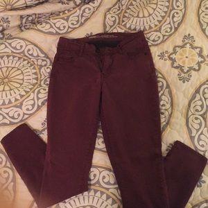 Burgundy RockStar Jeans!